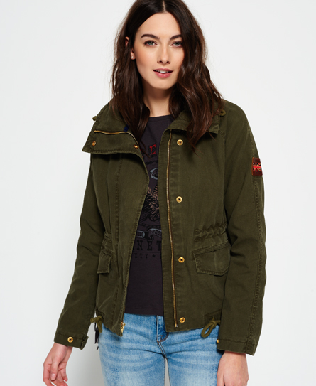 Superdry Rookie Field Crop Parka Jacket