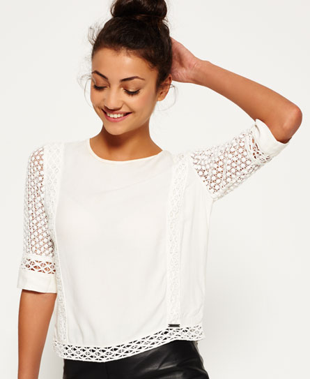 Superdry Superdry Analee Lacy Shell bluse