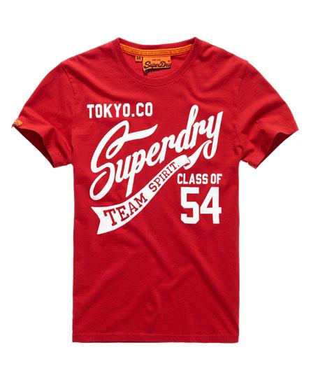 superdry team spirit t shirt for mens