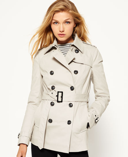 stone Superdry Winter Belle Trenchcoat