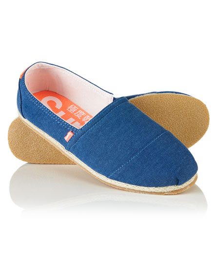Womens Jetstream Espadrilles, Blue Superdry