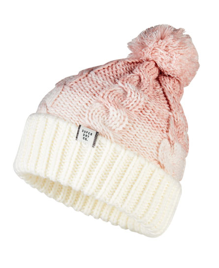 Superdry Ombre Clarrie Beanie Pink