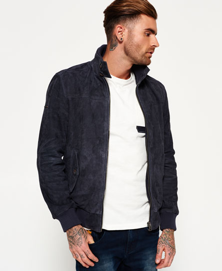 Superdry Superdry Premium Suede Harrington-jakke