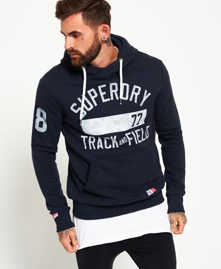 blue black grit Superdry Trackster hættetrøje