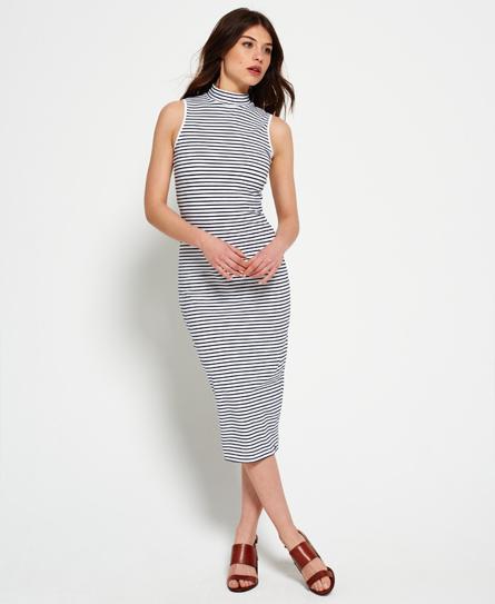 Se Superdry Superdry Mellemlang kjole med skorstenskrave ved SuperDry