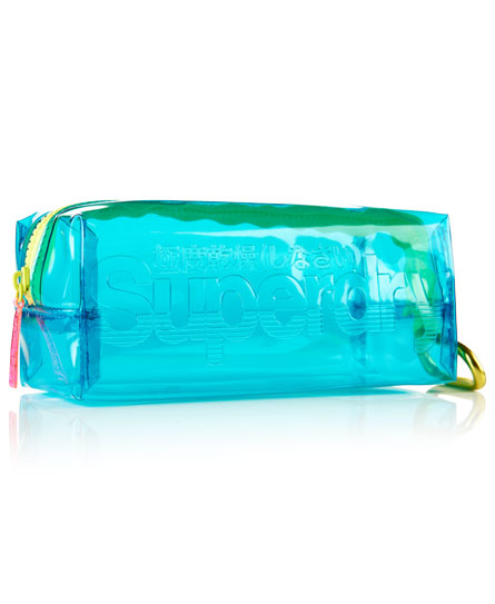 turquoise Superdry Jelly Pencil Case