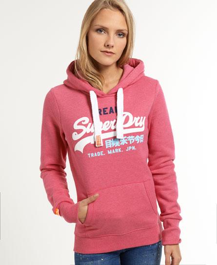 superdry vintage logo tri hoodie women 39 s hoodies. Black Bedroom Furniture Sets. Home Design Ideas