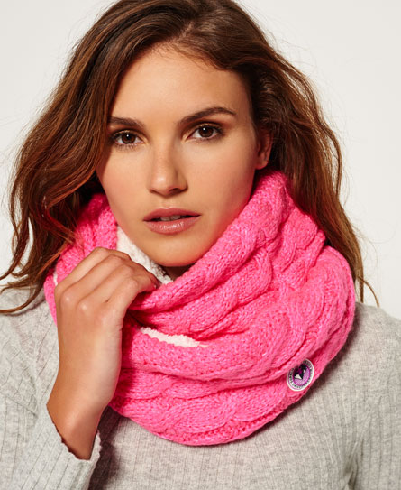 fluro pink twist Superdry Clarrie Snood