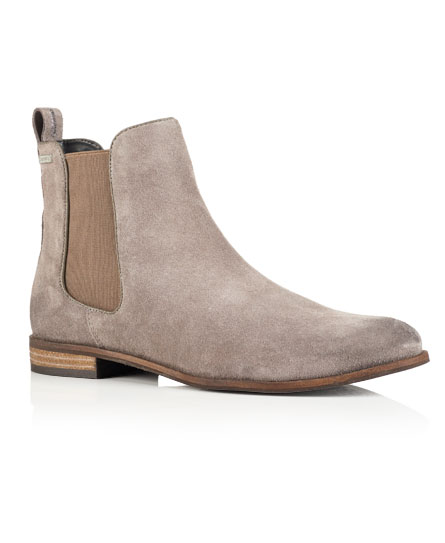 Superdry Millie Suede Chelsea Boots Dark Grey