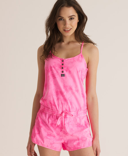 Superdry Tie Dye Playsuit Pink