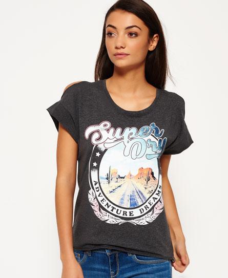Se Superdry Superdry Desert Nevada Shoulder T-shirt ved SuperDry