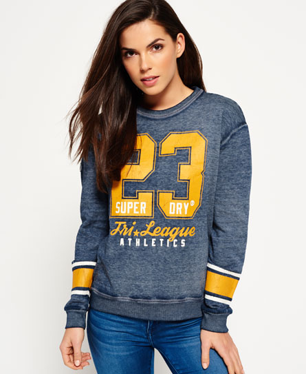 Superdry Tri League Relaxed Crew Sweatshirt