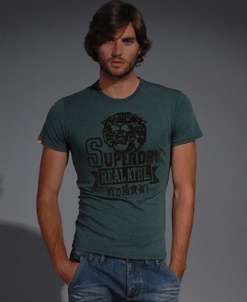 Superdry Bengal Real Athl T-shirt Green
