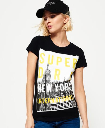 NYC T-Shirt mit großem Fotoprint