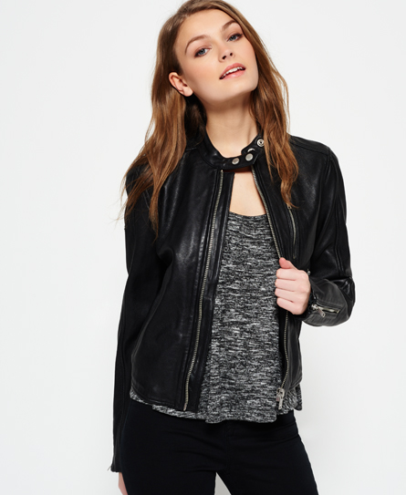 Discover the range of women's leather jackets from ASOS. Shop from a variety of leather jackets, biker jackets and bomber jackets.