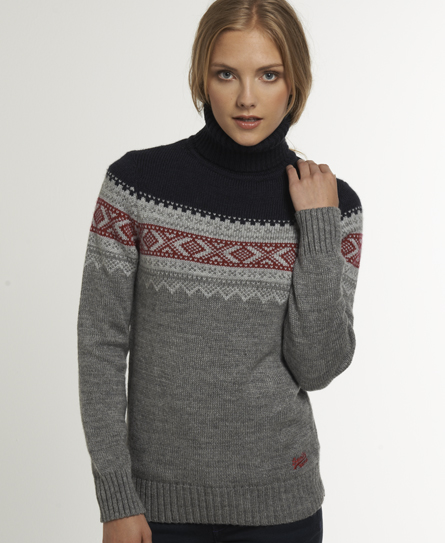 Superdry Fairisle Turtle Neck - Women's Sweaters