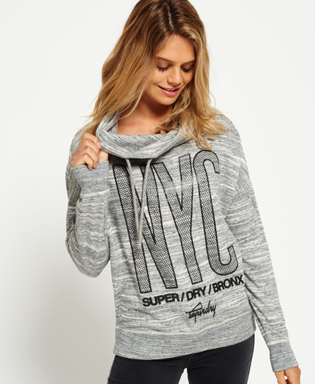 blizzard grey Superdry Sporty Funnel Hoodie