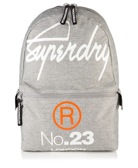light grey marl Superdry Zaino International Montana