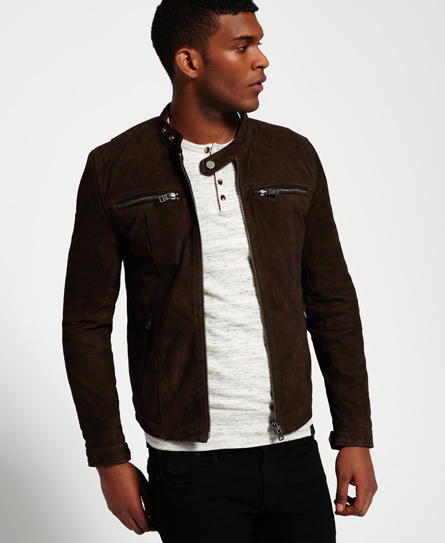 Real Hero Suede Biker Jacket