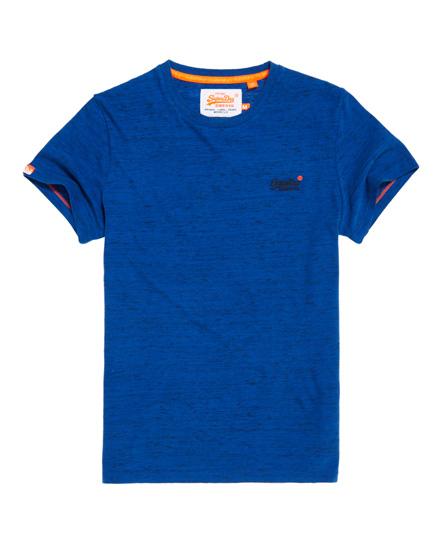 knallblau gesprenkelt Superdry Orange Label Vintage T-Shirt mit Stickerei