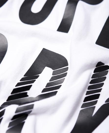 Superdry T-shirt met ronde hals en mesh inzetstukken