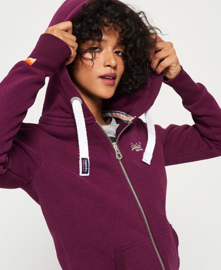 sprinter burgundy marl Superdry Orange Label Primary Zip hoodie