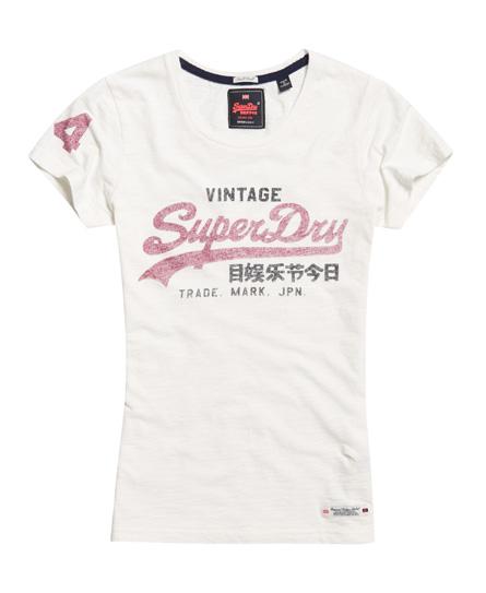 T-shirt Vintage Logo SlubSuperdry Acheter Pas Cher Sast Professionnel En Ligne 100% En Ligne Vente Originale Vente En Ligne nH03xo