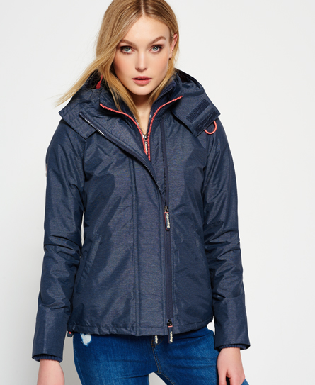 anthracite moyen chiné/corail clair Superdry Veste à capuche Pop Zip Arctic Windcheater