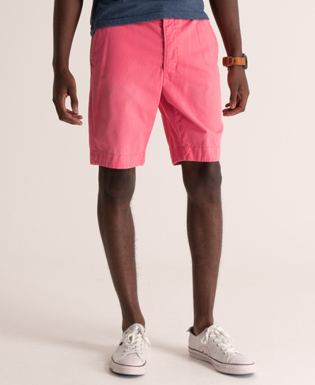 Mens - Commodity Chino Short in Maine Pink | Superdry