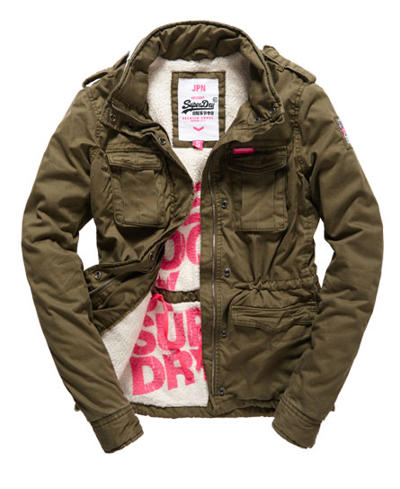 superdry veste winter rookie military vestes et manteaux pour femme. Black Bedroom Furniture Sets. Home Design Ideas