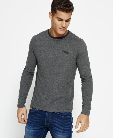 dark grey jaquared Superdry T-shirt testurizzata della linea Orange Label