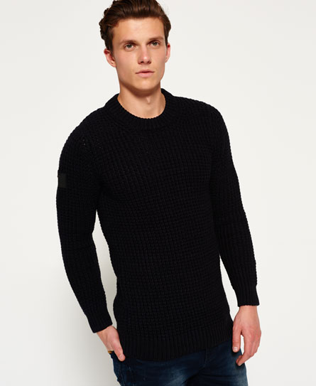 navy/black twist Superdry Nordic Depth Crew Neck Sweater
