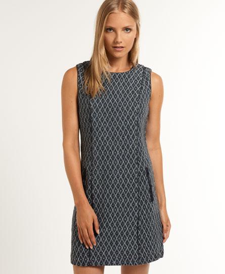 Superdry Ikat Jacquard Dress Blue