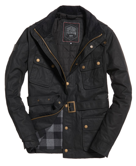 Superdry Endurance Motorcycle Jacket - Black Edition