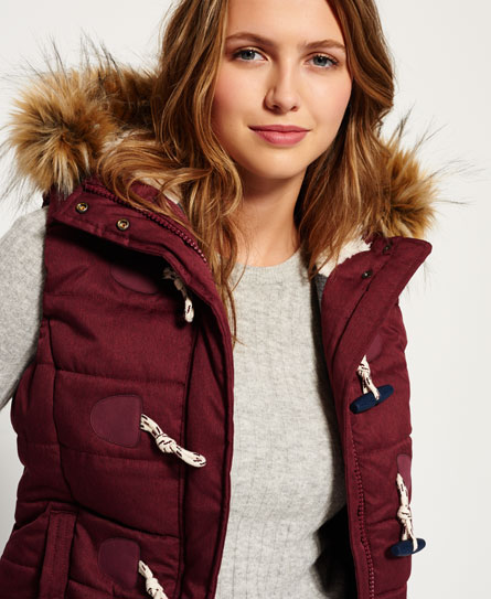 port marl Superdry Marl Toggle Puffle Gilet