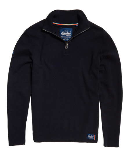 Mens metropolitan northside henley jumper in navy black for Whats a henley shirt
