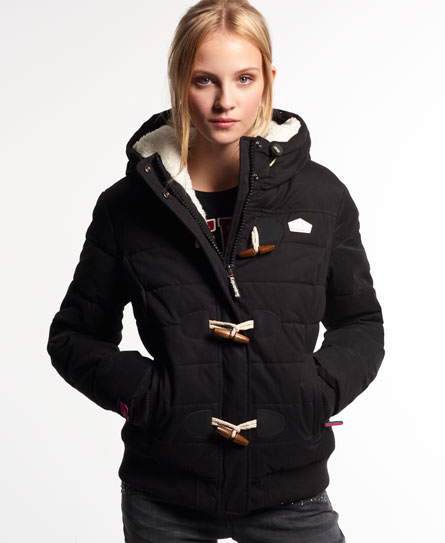 Microfibre Toggle Puffer Steppjacke