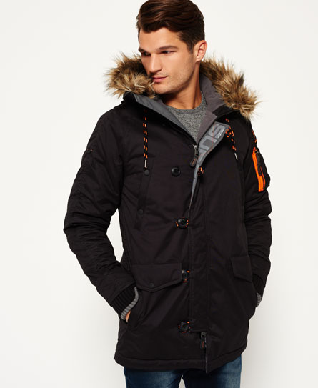 nero Superdry Parka in microfibra