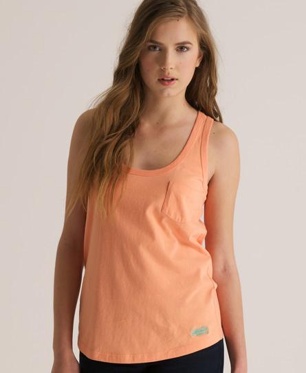 Superdry Embroidered Pocket Tank Orange