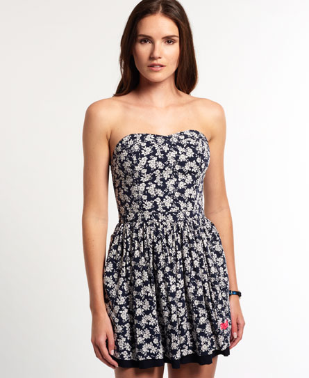 Superdry 50's Meadow Print Dress Blue