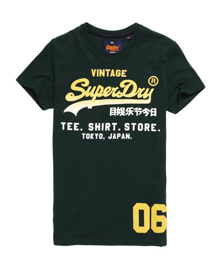 enamel green Superdry Shirt Shop Fade T-shirt