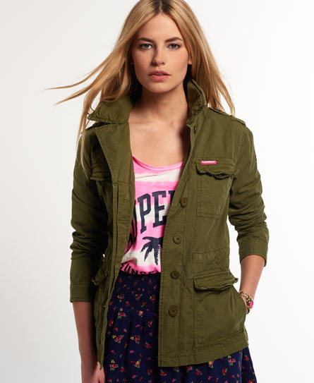 superdry blazer rookie military vestes et manteaux pour femme. Black Bedroom Furniture Sets. Home Design Ideas