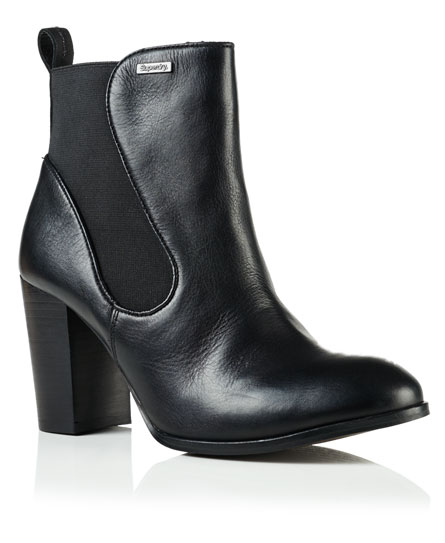 black leather Superdry Fleur Leather Chelsea Boots