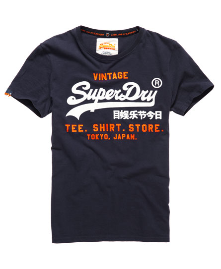 mens shirt shop t shirt in rinse navy superdry