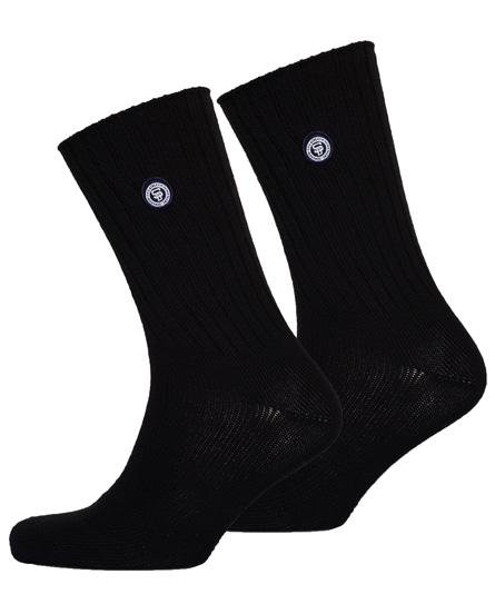 black/black Superdry SD University Socks Double Pack