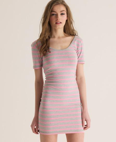 Superdry Scoop Back Mini Dress Grey