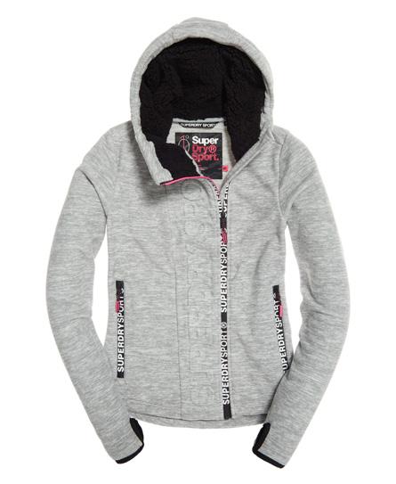 superdry sport swerve fleece pullover mit rei verschluss damen sport sweatshirts. Black Bedroom Furniture Sets. Home Design Ideas