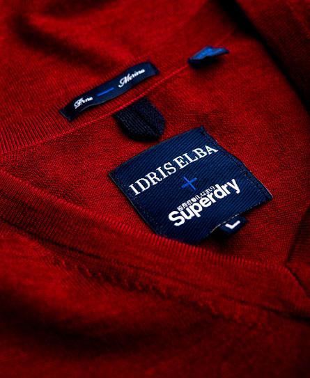 Superdry Pull en mérinos à col en V Call Sheet