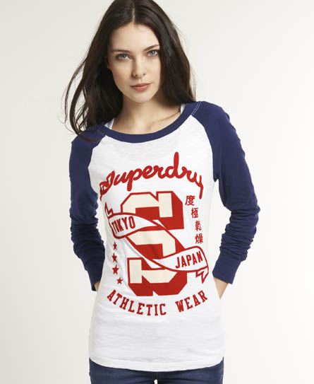 Superdry California Flame Top Blue