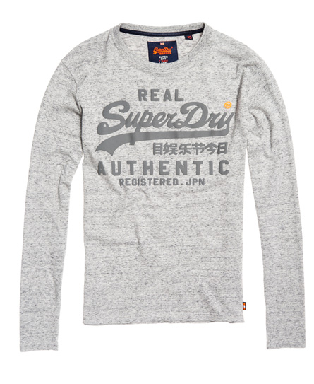 Superdry Vintage Authentic Long Sleeve Tonal T-Shirt